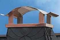 Schornsteinverkleidung aus Kupfer